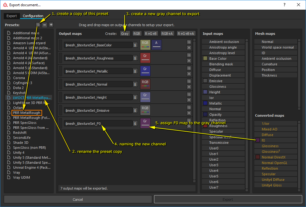 Substance Painter export textures